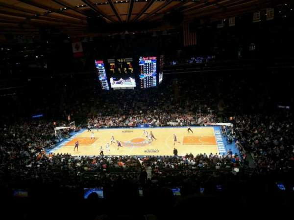 Madison Square Garden, secção: 212, fila: 7, lugar: 9