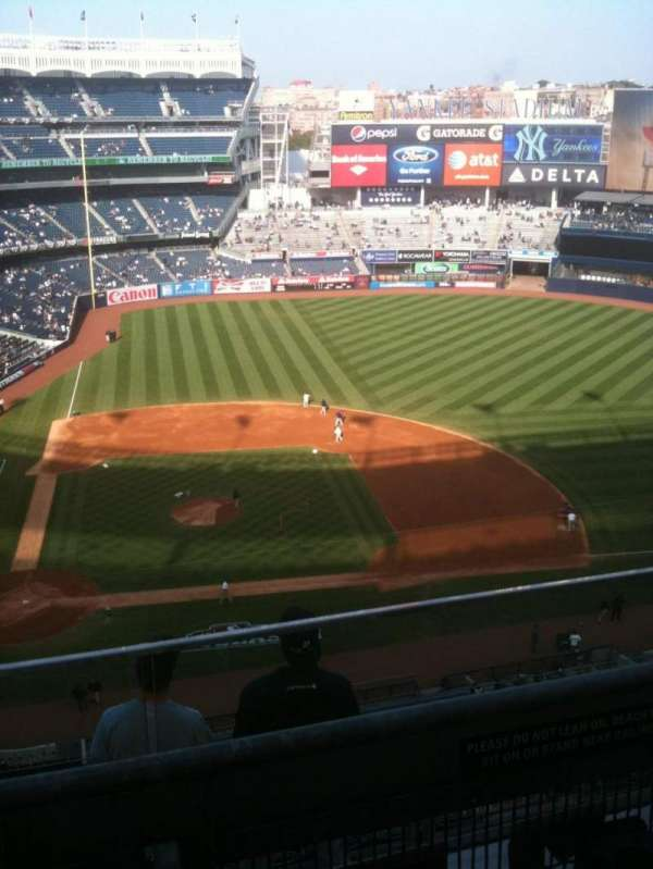 Yankee Stadium, secção: 417, fila: 6, lugar: 11
