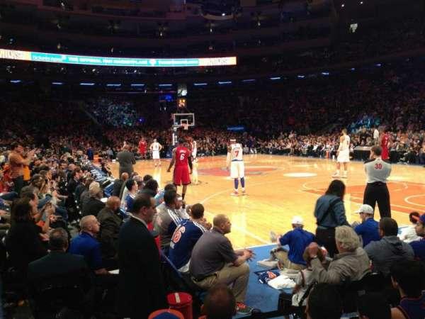 Madison Square Garden, secção: 7, fila: 3, lugar: 1