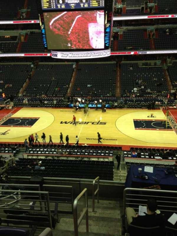 Capital One Arena, secção: 216, fila: F, lugar: 1