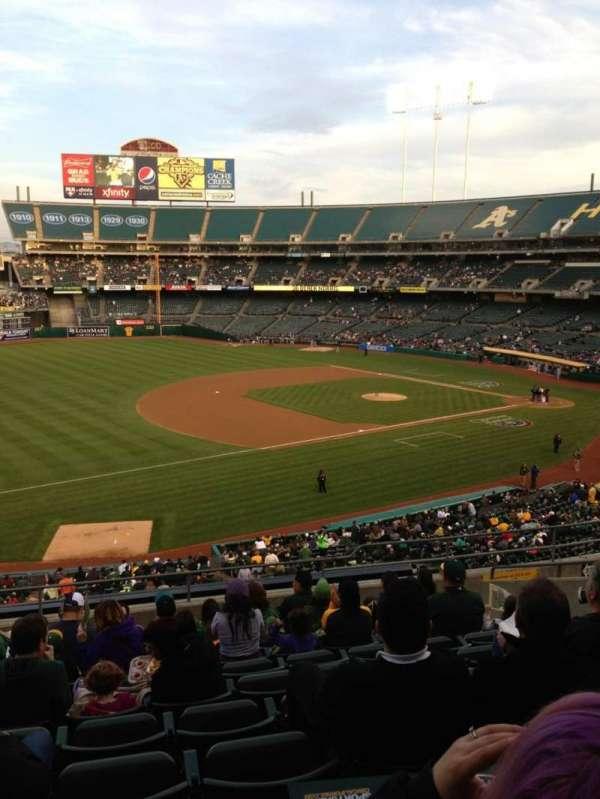 Oakland Coliseum, secção: 226, fila: 11, lugar: 17