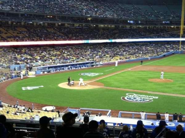 Dodger Stadium, secção: 134LG, fila: L, lugar: 5