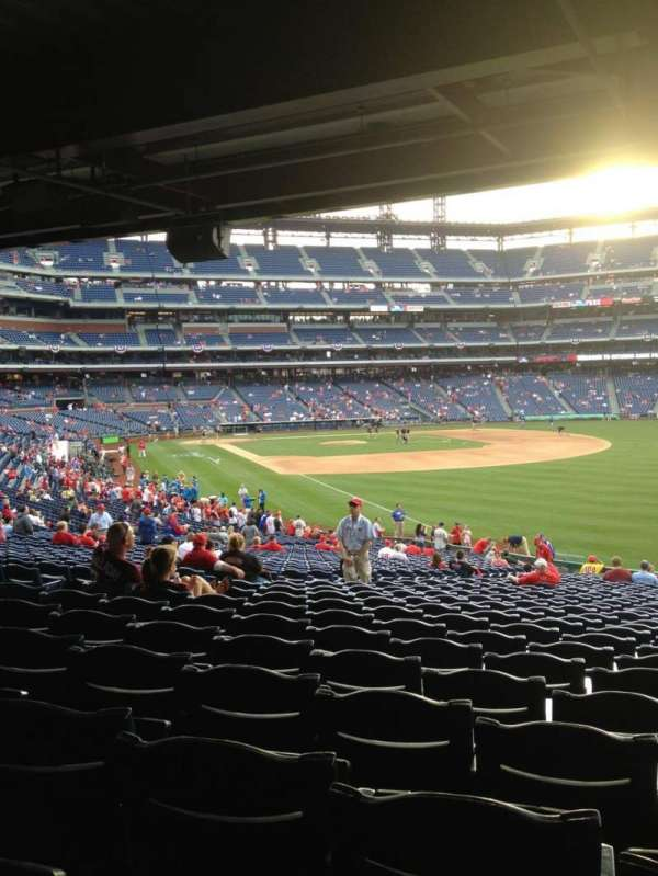 Citizens Bank Park, secção: 108, fila: 40, lugar: 9