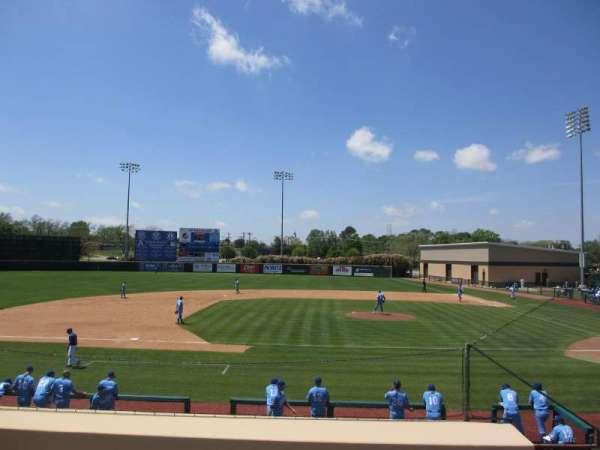 Clay Gould Ballpark, secção: 3rd-base bleachers, fila: top, lugar: aisle