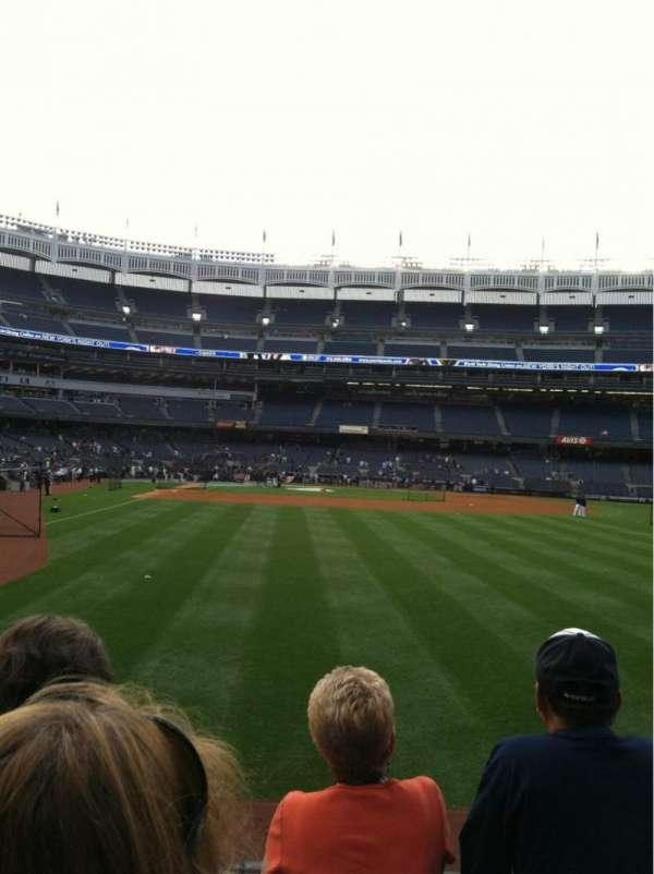 Yankee Stadium, secção: 103, fila: 3, lugar: 5