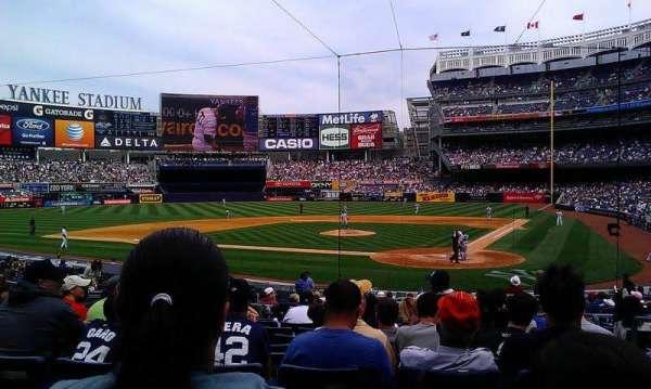 Yankee Stadium, secção: 121B, fila: 21, lugar: 4