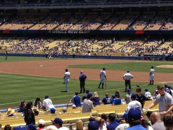 Dodger Stadium, secção: 43FD, fila: P, lugar: 4
