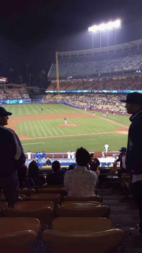 Dodger Stadium, secção: 131LG, fila: G