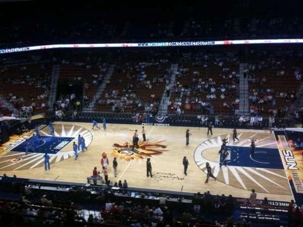 Mohegan Sun Arena, secção: 106, fila: H, lugar: 3