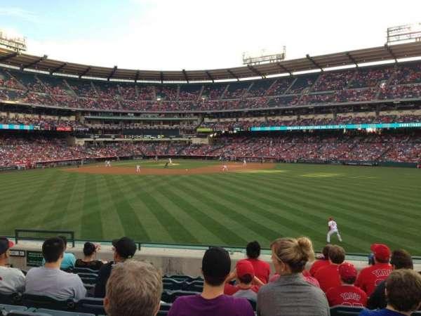 Angel Stadium, secção: 240, fila: H, lugar: 8