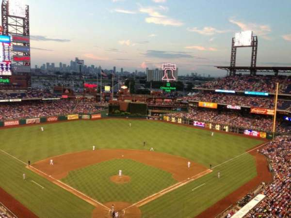 Citizens Bank park, secção: 420, fila: 1, lugar: 21