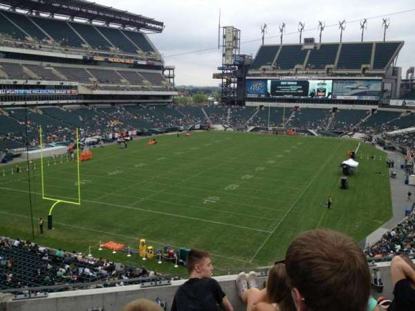 Lincoln Financial Field, secção: M13, fila: 4, lugar: 7