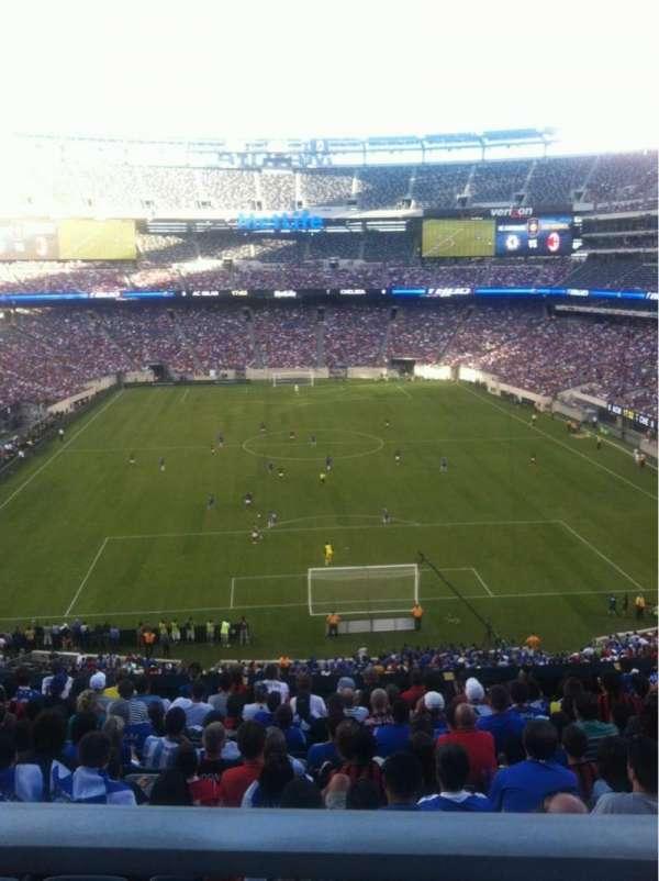 MetLife Stadium, secção: 202A, fila: 12, lugar: 13