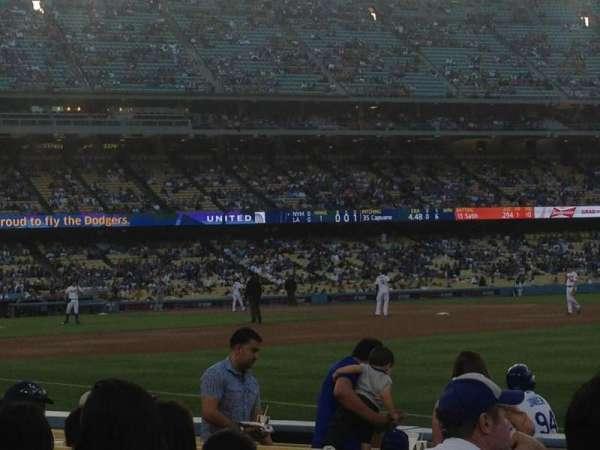 Dodger Stadium, secção: 40FD, fila: A, lugar: 5