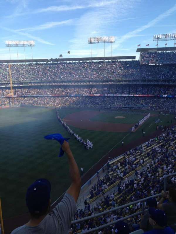 Dodger Stadium, secção: 51RS, fila: E, lugar: 1