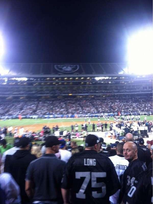 Oakland Coliseum, secção: 118, fila: 18, lugar: 15