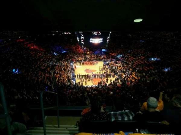 Madison Square Garden, secção: 416, fila: 5, lugar: 1