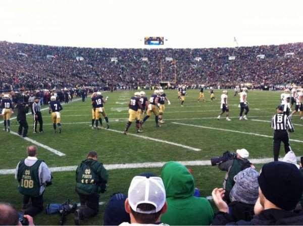 Notre Dame Stadium, secção: FL20, fila: F, lugar: 5