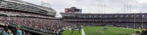 Oakland Coliseum, secção: 131, fila: 23, lugar: 10