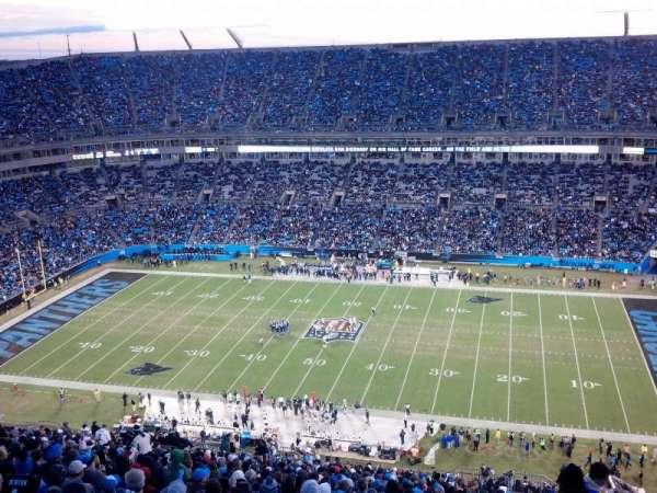 Bank of America Stadium, secção: 513, fila: 34, lugar: 1