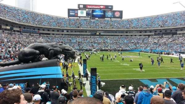 Bank of America Stadium, secção: 104, fila: 12, lugar: 3