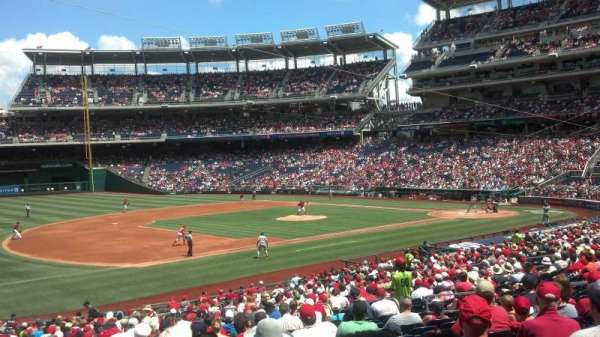 Nationals Park, secção: 113, fila: MM, lugar: 14