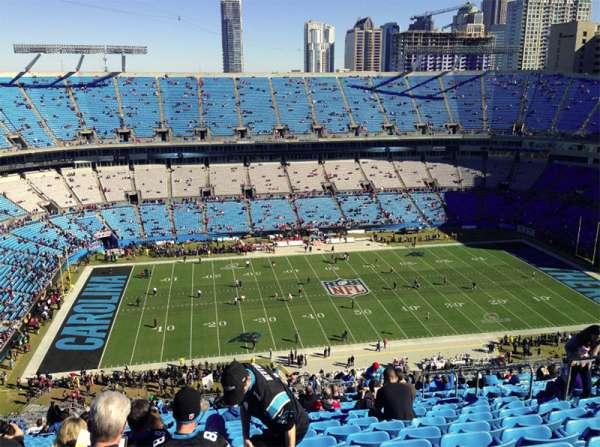 Bank of America Stadium, secção: 544, fila: 34, lugar: 9