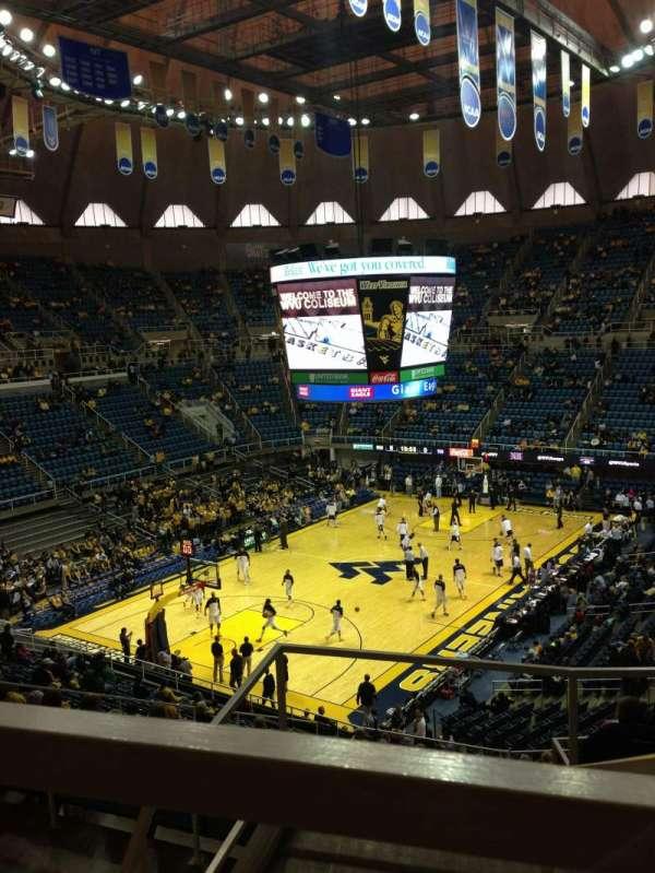 WVU Coliseum, secção: 80, fila: E, lugar: 1