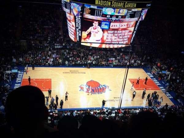 Madison Square Garden, secção: 312, fila: 2, lugar: 18