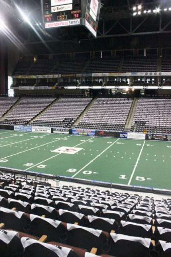 VyStar Veterans Memorial Arena, secção: 113, fila: L, lugar: 8