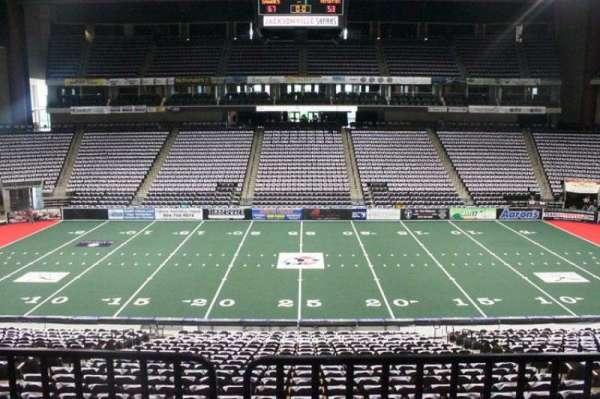VyStar Veterans Memorial Arena, secção: 114, fila: W, lugar: 6