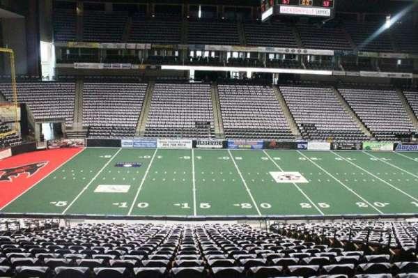 VyStar Veterans Memorial Arena, secção: 115, fila: W, lugar: 7