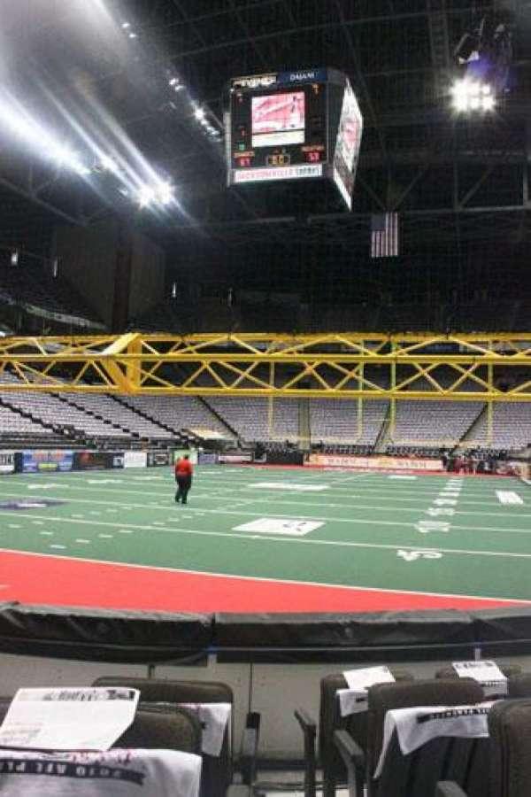VyStar Veterans Memorial Arena, secção: 118, fila: D, lugar: 4