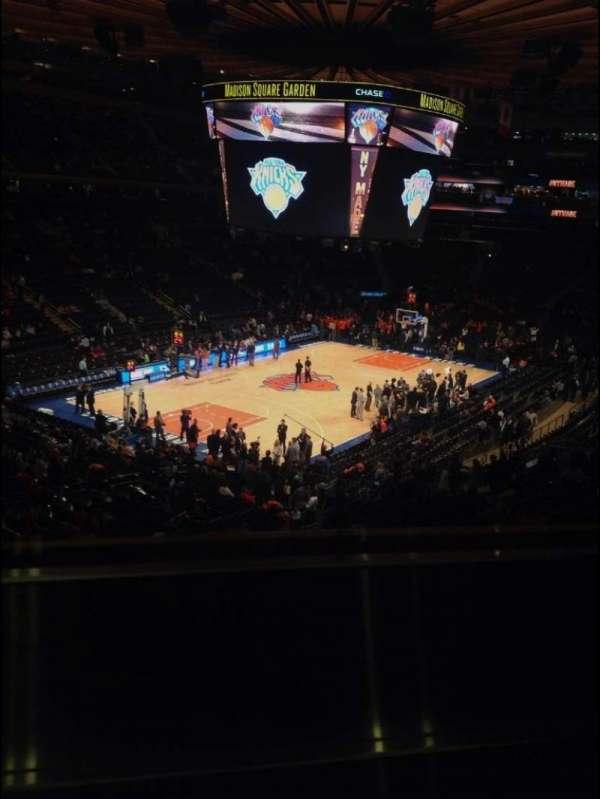 Madison Square Garden, secção: 220, fila: 1, lugar: 8