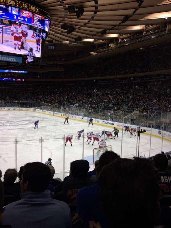 Madison Square Garden, secção: 111, fila: 11, lugar: 11