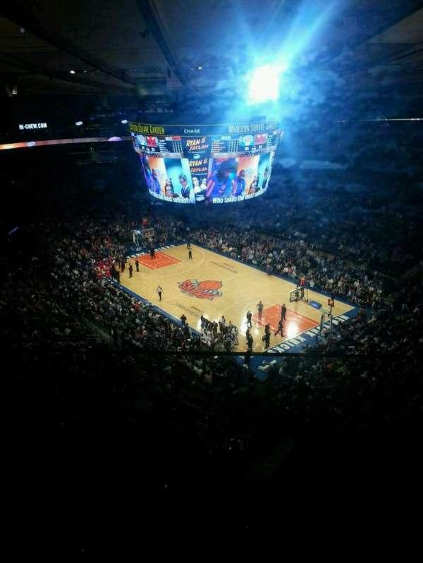 Madison Square Garden, secção: 317, fila: 2, lugar: 8