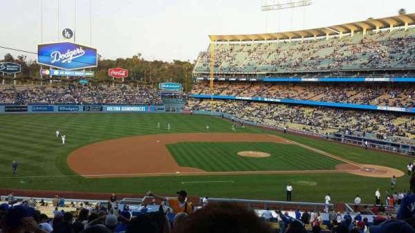 Dodger Stadium, secção: 133LG, fila: N, lugar: 7