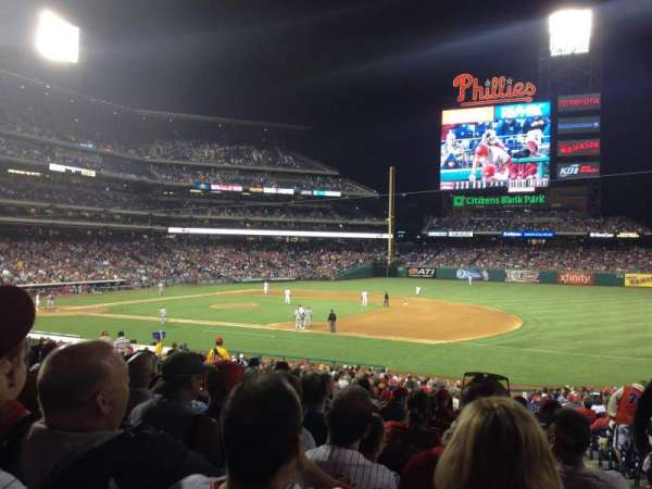 Citizens Bank Park, secção: 114, fila: 33, lugar: 2