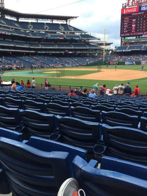 Citizens Bank Park, secção: 114, fila: 19, lugar: 6