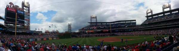Citizens Bank Park, secção: 134, fila: 15, lugar: 1