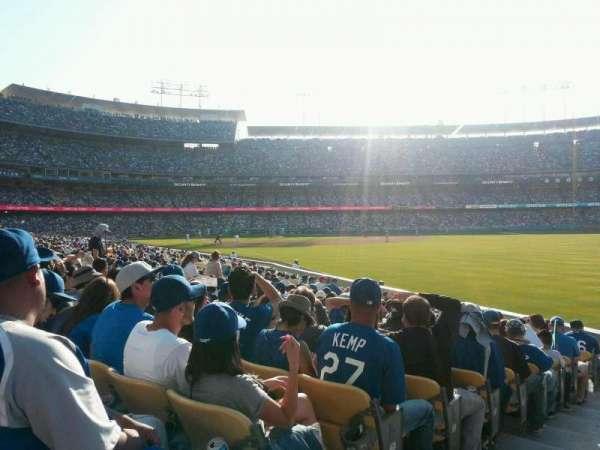 Dodger Stadium, secção: 48FD, fila: M, lugar: 1