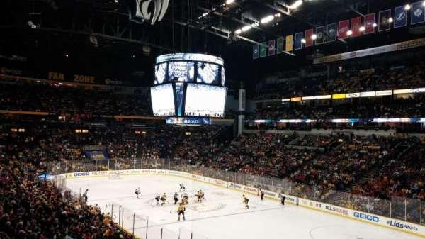 Bridgestone Arena, secção: 119, fila: P