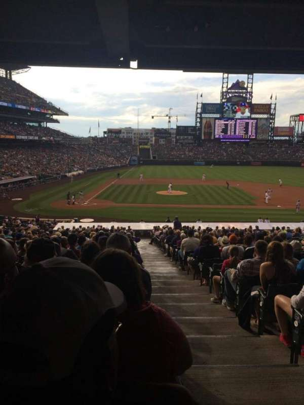 Coors Field, secção: 125, fila: 38, lugar: 1