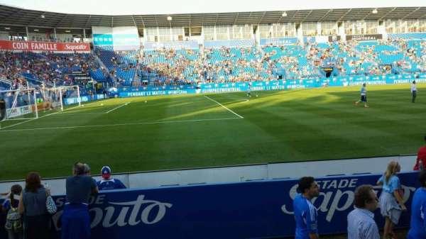 Saputo Stadium, secção: 110, fila: E, lugar: 11