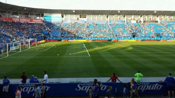 Saputo Stadium, secção: 110, fila: M, lugar: 6