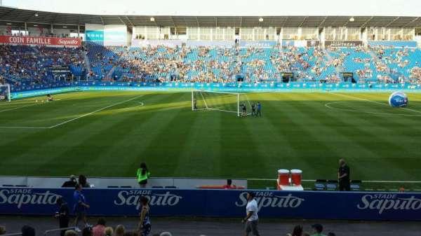 Saputo Stadium, secção: 108, fila: BB, lugar: 11