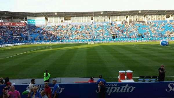 Saputo Stadium, secção: 108, fila: J, lugar: 11
