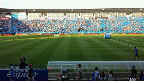 Saputo Stadium, secção: 107, fila: K, lugar: 10