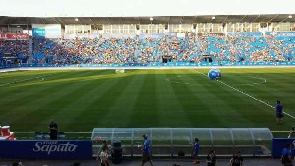 Saputo Stadium, secção: 107, fila: CC, lugar: 7