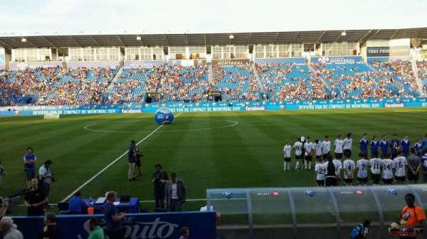 Saputo Stadium, secção: 105, fila: J, lugar: 11